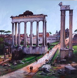 Roman Forum by Henderson Cisz - Oil on Box Canvas sized 48x48 inches. Available from Whitewall Galleries